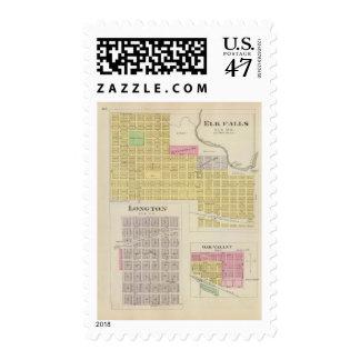 Elk Falls, Longton, Oak Valley, Kansas Postage