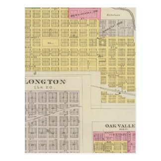 Elk Falls, Longton, Oak Valley, Kansas Postcard