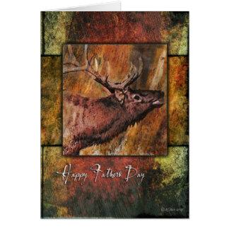 Elk Framed-FD Greeting Card