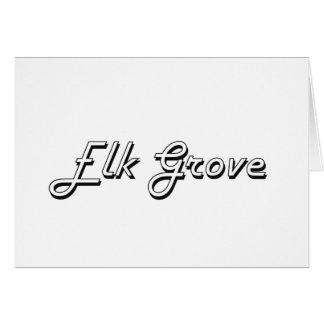 Elk Grove California Classic Retro Design Stationery Note Card