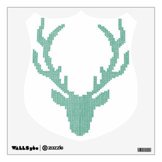 Elk Head Cross Stitched Wall Decal!