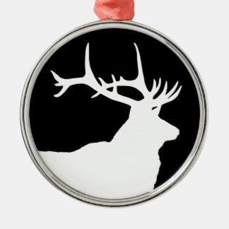 Elk Head Metal Ornament