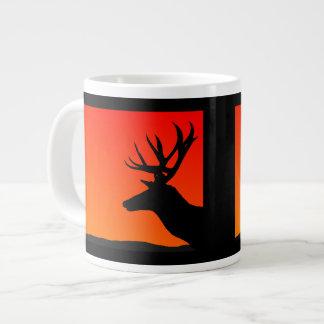 Elk Head Silhouette Design 20 Oz Large Ceramic Coffee Mug