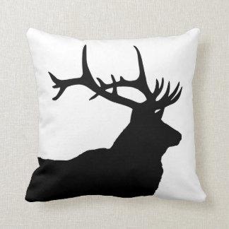 Elk Head Silhouette Pillow