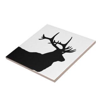 Elk Head Silhouette Tile