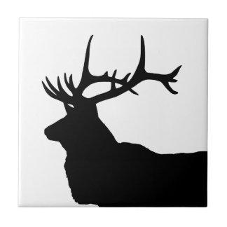 Elk Head Silhouette Ceramic Tiles