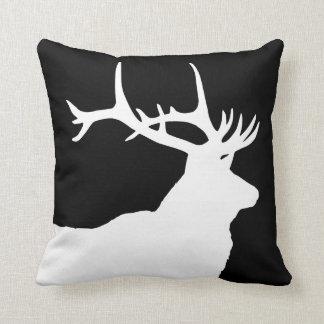 Elk Head Throw Pillow