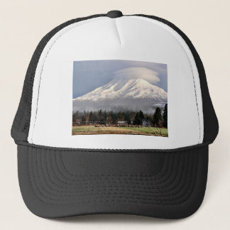 Elk Heard Gathers at the Base of Mt. Adams Trucker Hat