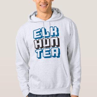 ELK HUNTER - I Love Bow & Rifle Deer Hunting, Blue Hoodie
