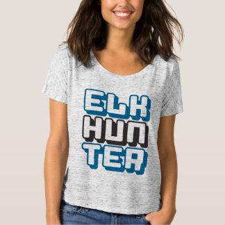 ELK HUNTER - I Love Bow & Rifle Deer Hunting, Blue T-Shirt