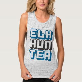 ELK HUNTER - I Love Bow & Rifle Deer Hunting, Blue Tank Top
