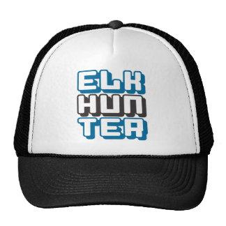 ELK HUNTER - I Love Bow & Rifle Deer Hunting, Blue Trucker Hat
