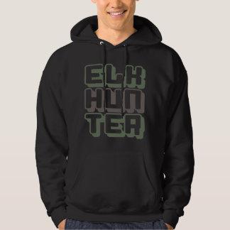 ELK HUNTER - I Love Bow & Rifle Deer Hunting, Camo Hoodie
