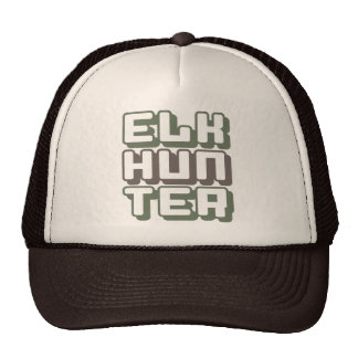 ELK HUNTER - I Love Bow & Rifle Deer Hunting, Camo Trucker Hat