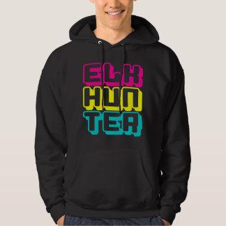 ELK HUNTER - I Love Bow & Rifle Deer Hunting, Neon Hoodie