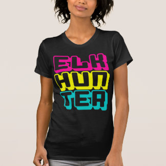 ELK HUNTER - I Love Bow & Rifle Deer Hunting, Neon T-Shirt