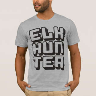 ELK HUNTER - I Love Bow & Rifle Deer Hunting, Onyx T-Shirt