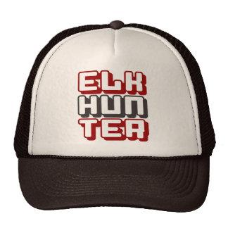 ELK HUNTER - I Love Bow & Rifle Deer Hunting, Red Trucker Hat