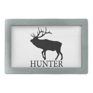 Elk Hunter Rectangular Belt Buckle