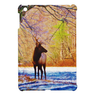 Elk in the snow cover for the iPad mini