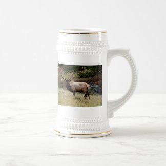 Elk in the Wild Beer Stein