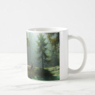 Elk in wood mug