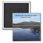 elk lake,may2007 050, MT Bachelor from Hosmer L... 2 Inch Square Magnet
