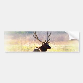 "Elk ""Looking Back"" Car Bumper Sticker"