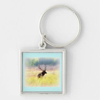 "Elk ""Looking Back"" Keychain"