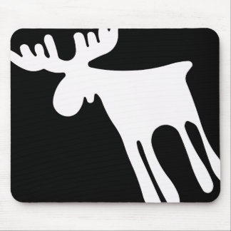 Elk/Moose, white Mouse Pad
