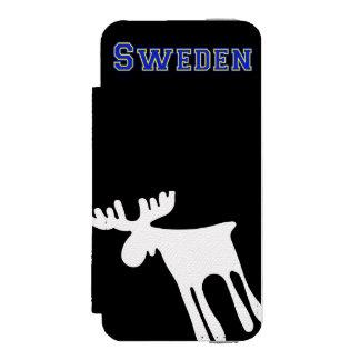 Elk/Moose, white, Sweden Wallet Case For iPhone SE/5/5s