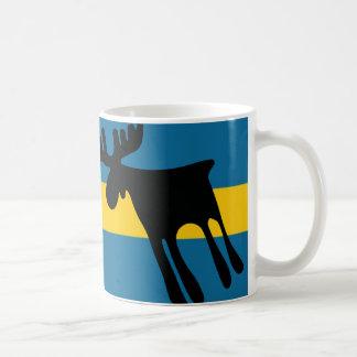 Elk/Moose with the Swedish flag Coffee Mug