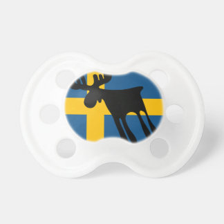 Elk/Moose with the Swedish flag Pacifier