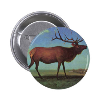 Elk Painting 2 Inch Round Button