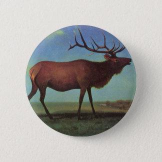Elk Painting Button