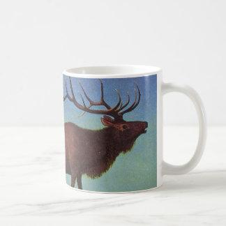 Elk Painting Coffee Mug
