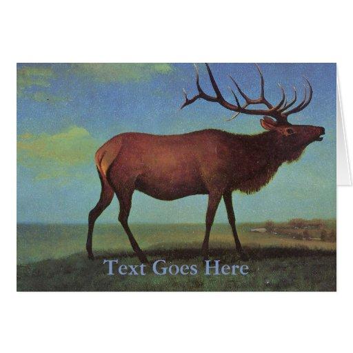 Elk Painting Greeting Card