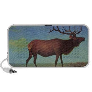 Elk Painting iPhone Speaker