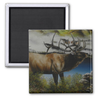 Elk Painting on customizable products Magnet