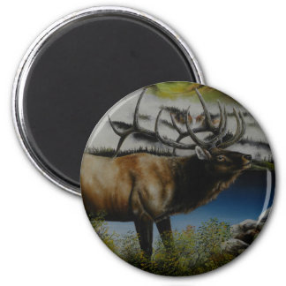 Elk Painting on customizable products Refrigerator Magnet