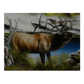 Elk Painting on customizable products Postcard