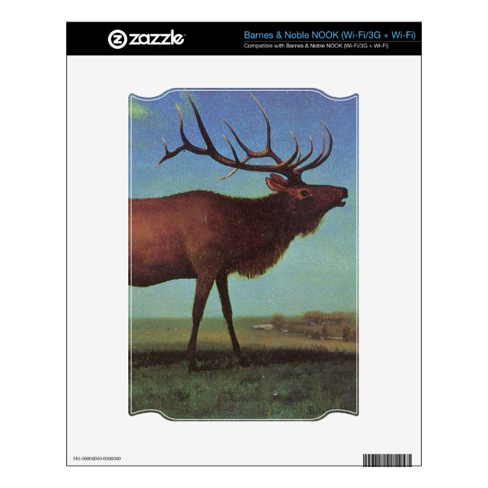 Elk Painting Skin For The NOOK