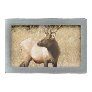 Elk Rectangular Belt Buckle