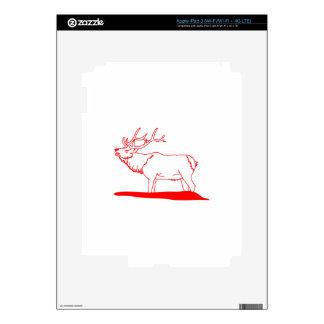 Elk Redwork iPad 3 Decal