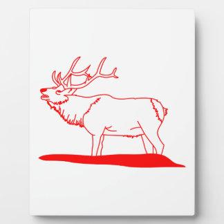 Elk Redwork Plaque