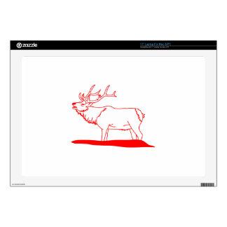 Elk Redwork Skin For Laptop