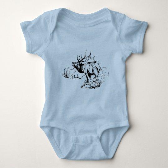 ELK SCENE BABY BODYSUIT