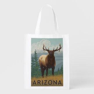 Elk SceneArizona Reusable Grocery Bag