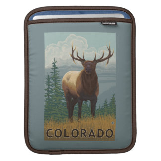 Elk SceneColorado iPad Sleeve