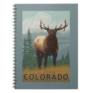 Elk SceneColorado Spiral Note Books